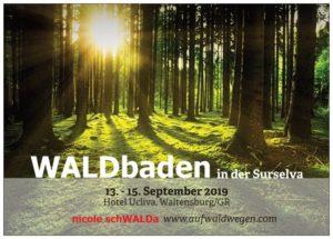 erster WALDbaden RETREAT in der Surselva, Graubünden, Schweiz