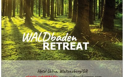 WALDbaden RETREAT in Graubünden, Termine 2021